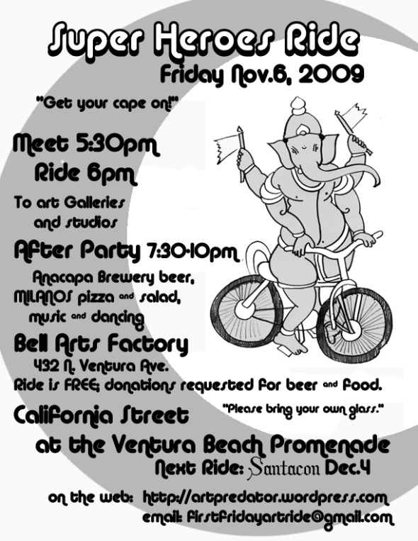 Super Heroes Ride in Ventura Nov. 6 2009 flyer