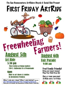 Freewheelin Farmers ArtRides August 5 & 6